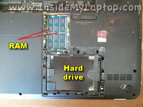 Memory and hard drive