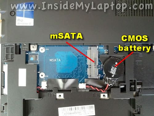 mSATA and CMOS battery
