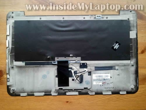 How to disassemble HP ENVY 15 and replace keyboard – Inside