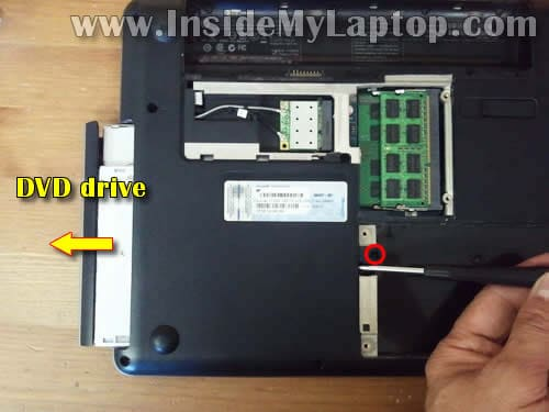 how to disassemble hp g42 or compaq presario cq42 inside my laptop step 7