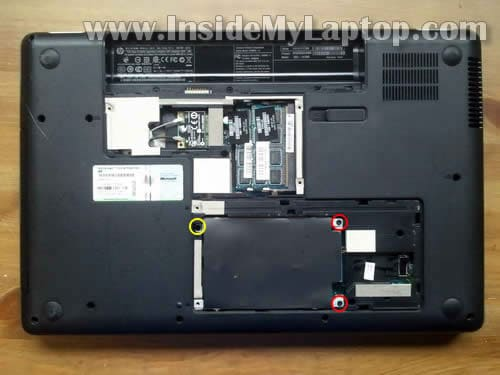 How to disassemble HP G62 or Compaq Presario CQ62 – Inside