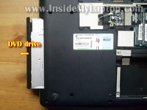 how to disassemble hp g62 or compaq presario cq62 inside my laptop step 5