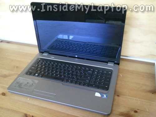 HP G72 laptop disassembly