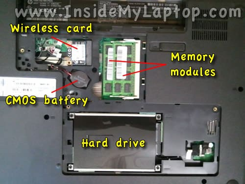 Access hard drive memory CMOS battery