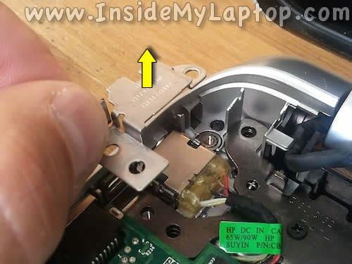 Remove DC jack bracket