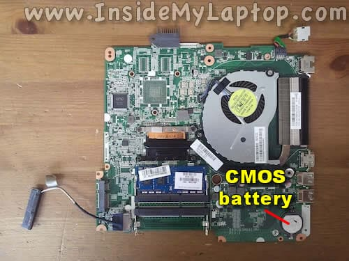 CMOS battery location