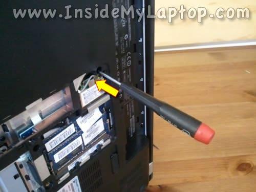 Insert screwdriver