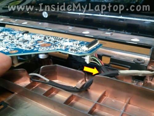 Unplug DC jack cable