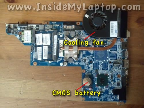 Access fan and CMOS battery