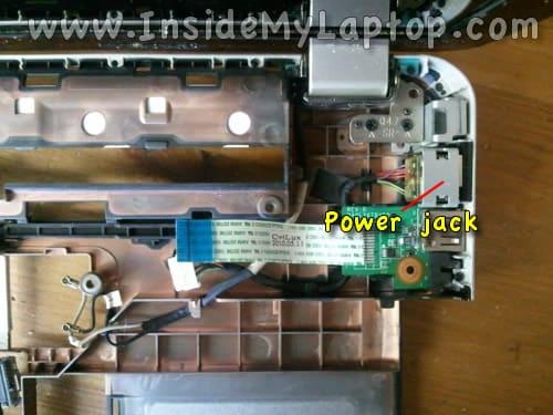 Access laptop DC power jack