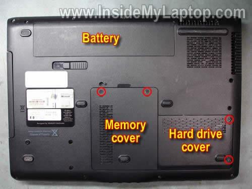 HP Pavilion DV6700 Hard Drive Cover Remplacement Parts