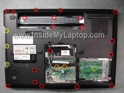 How to disassemble HP Pavilion dv6500, dv6600, dv6700, dv6800