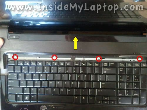 Remove keyboard screws