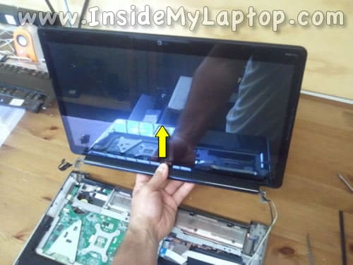 Remove notebook display assembly