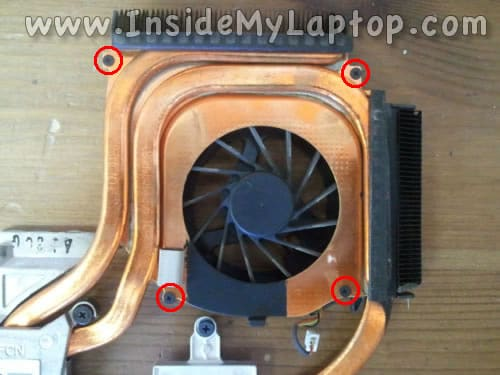 Remove screws securing cooling fan