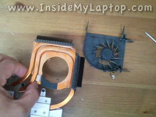 Separate cooling fan from heatsink