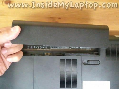 Remove laptop battery