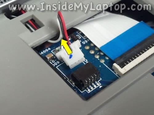 Unplug speaker cable