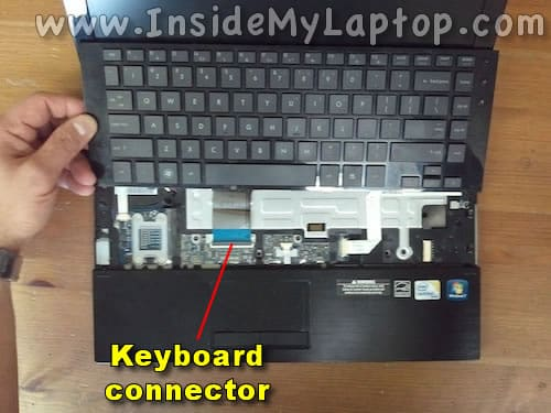 Access keyboard cable connector