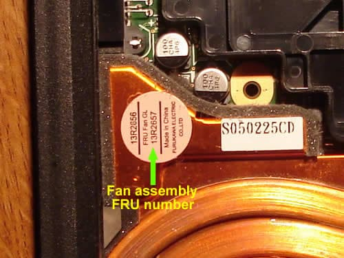 IBM ThinkPad displays fan error message – Inside my laptop