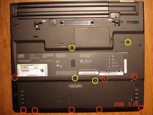 IBM ThinkPad T42 take apart