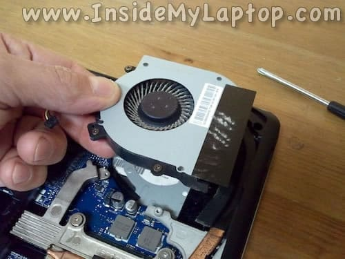 Remove cooling fan