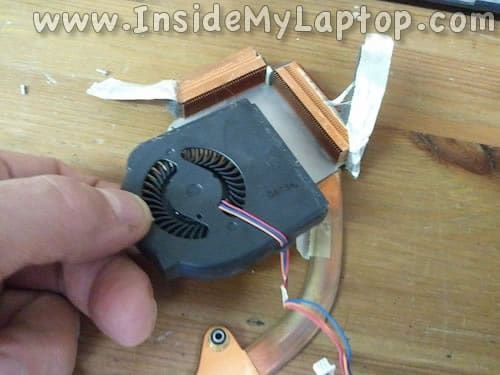 Remove failed cooling fan