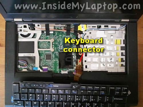 Access keyboard connector