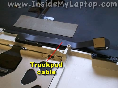 Separate trackpad cable
