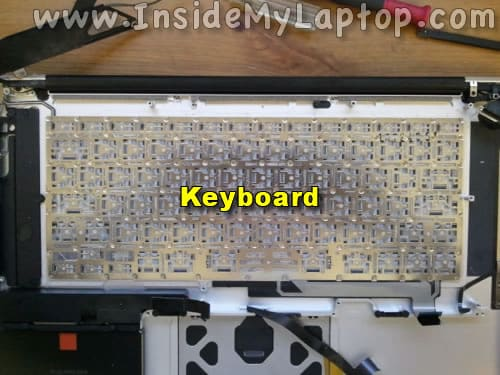 Remove screws from keyboard