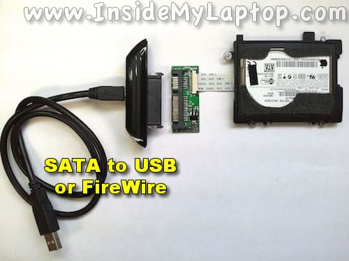 SATA to USB or FireWire cable