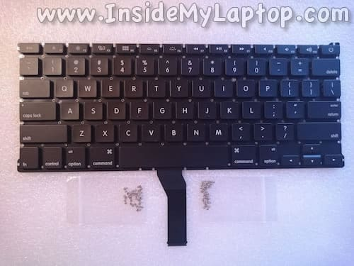 New MacBook Air keyboard and screws