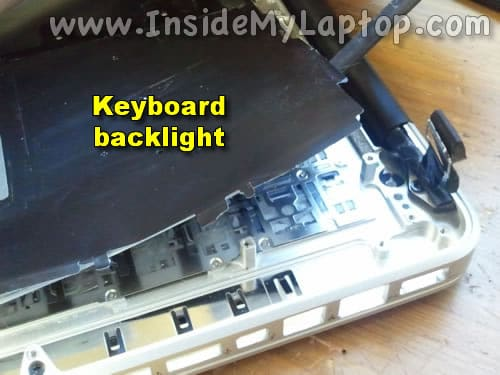 Start removing keyboard backlight