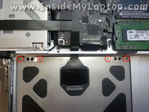 Remove trackpad screws