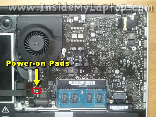 MacBook Pro (13-inch Mid 2009) power-on pads