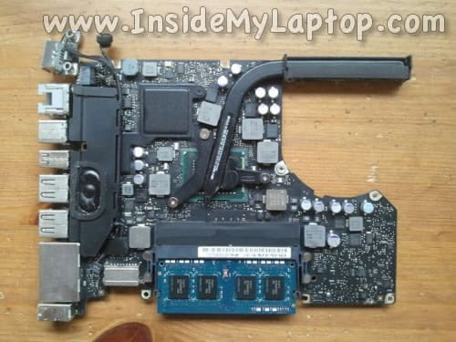 Inspect motherboard for liquid spill damage