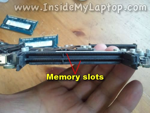 Inspect memory slots for liquid damage