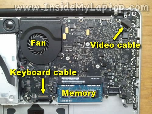 Connect MacBook Pro motherboard
