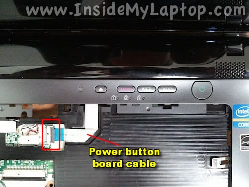 Power button board cable