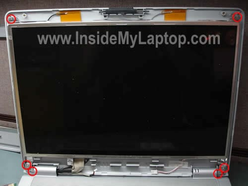 Remove screws from LCD screen