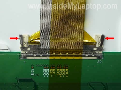 Disconnect LCD cable from screen