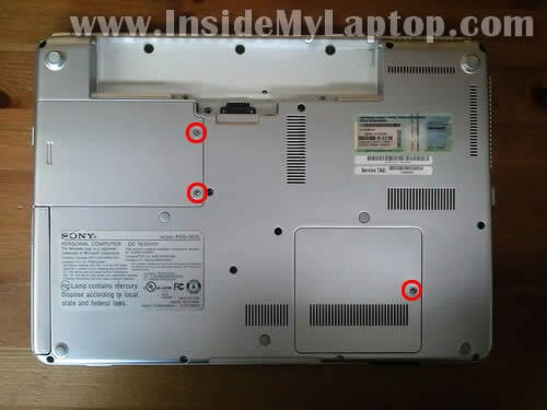 how to remove hard drive from sony vaio laptop vgn-z890c