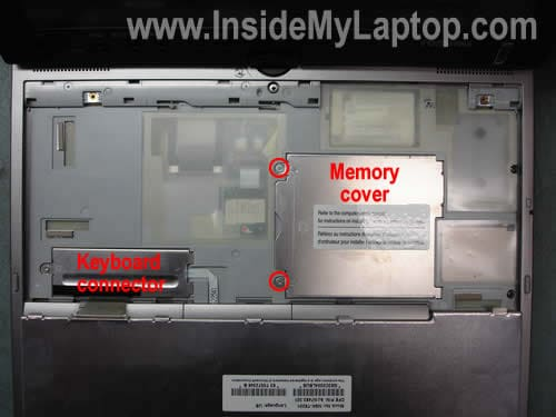 Remove memory RAM cover