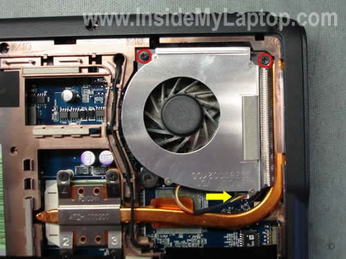 Removing cooling fan