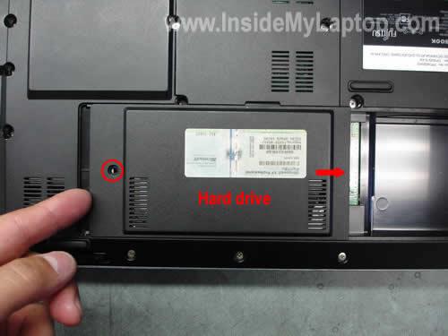 Remove hard drive cover