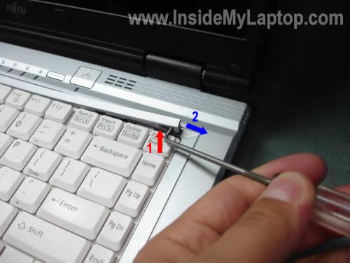 Lift up keyboard bezel