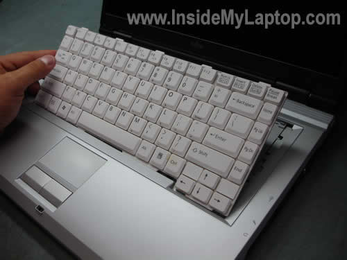 Remove notebook keyboard