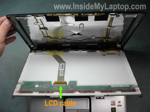 Disconnect LCD cable