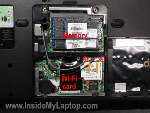 Remove memory and wireless card