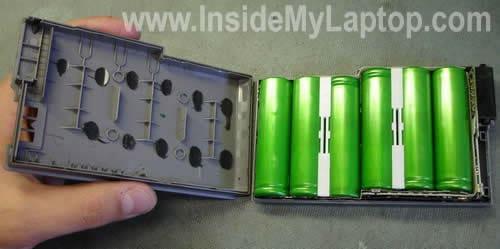 Battery taken apart
